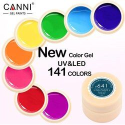 CANNI Gel Lacquer 5ml 141 Pure Colors UV Gel Manicure DIY French Nail Art Tips Gel Polish Design Nail Painting Color Gel Varnish