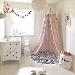 Bébé lit rideau KAMIMI Enfants Chambre décoration Lit Compensation bébé Tente Coton Accroché Dôme bébé Moustique Net photographie props