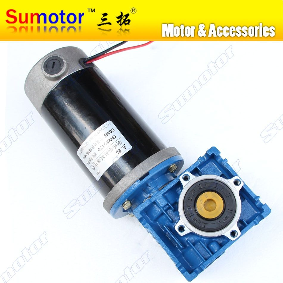 DC 12V 10A GW80170 gear box Gearhead Reducer Electric worm geared motor Large High power Big torque Low speed Industry machinery