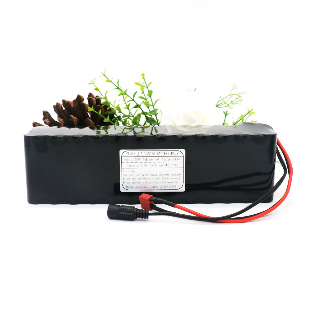 13S3P 48V9.6Ah 800W High Power & Capacity 18650 Lithium Battery Pack for Ebike Electric Car Bicycle Motor Scooter with 25A BMS