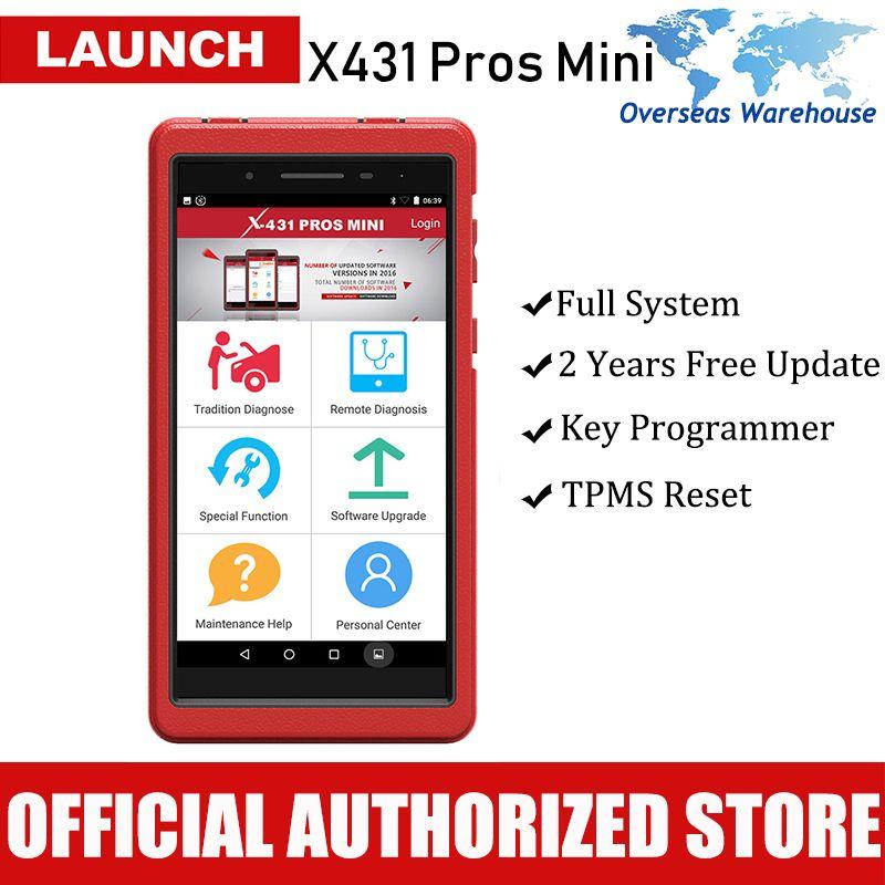 Starten X431 Profis Mini Professionelle Auto Diagnose-Tool Alle System Diagnose Scan Werkzeuge Autoscanner Zwei Jahre Update
