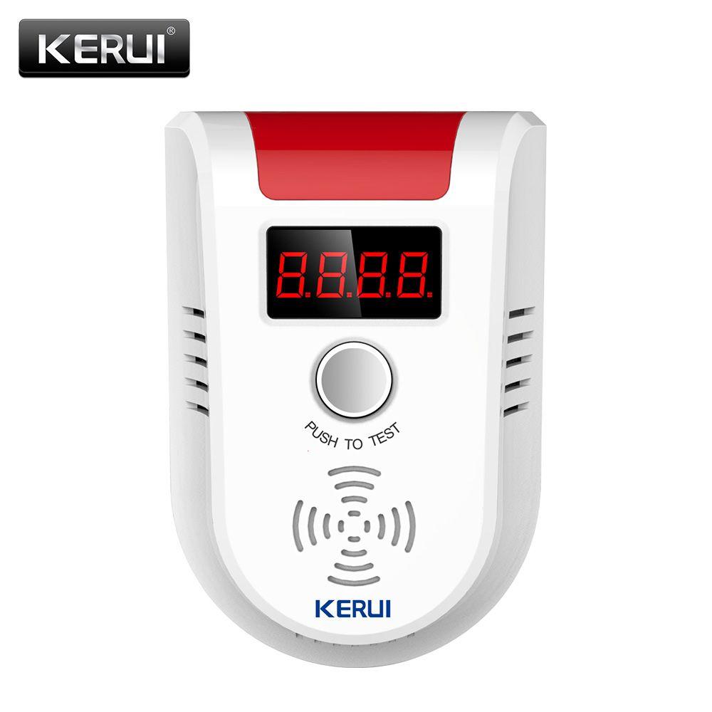 KERUI GD13 GPL Détecteur de GAZ Sans Fil Numérique LED Affichage Combustible Détecteur de Gaz Pour La Maison Système D'alarme