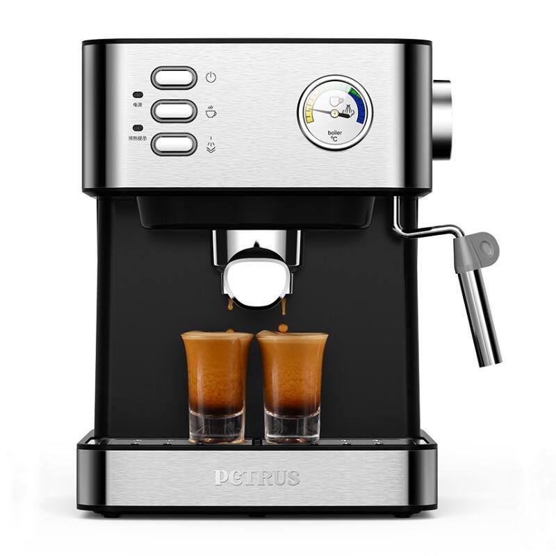 20Bar Kaffee Maschine Espresso Halbautomatische Haushalt Kommerziellen Dampf Einstellbare Milch Schaum Sichtbar Wasser Temperatur Gauge