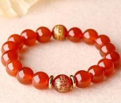 Obsidienne agate rouge amoureux bracelet l'homme du zodiaque Chinois.