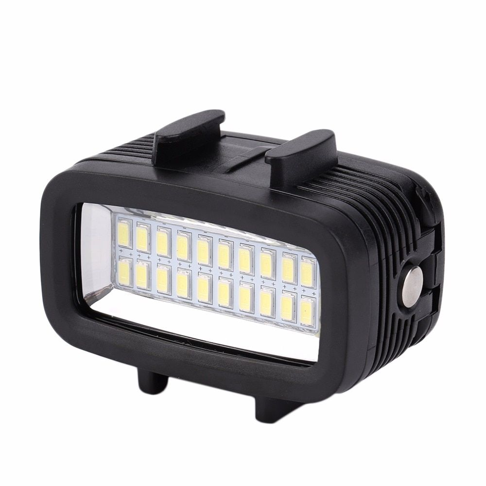 30M Waterproof Super Bright Underwater LED Video Light Action Camera Diving Lamp Suitable For GOPRO Black