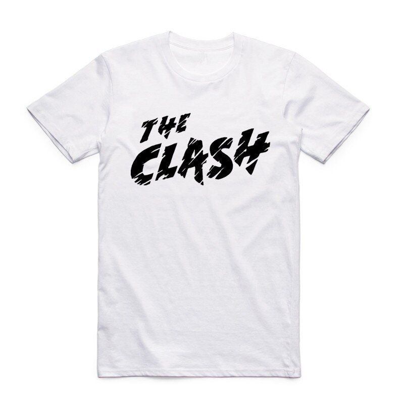 2017 neue Mode Druck Der Clash London Aufruf Männer Weiß T-shirt Rock Band Sommer Lässige Kurzarm O Neck t-shirt