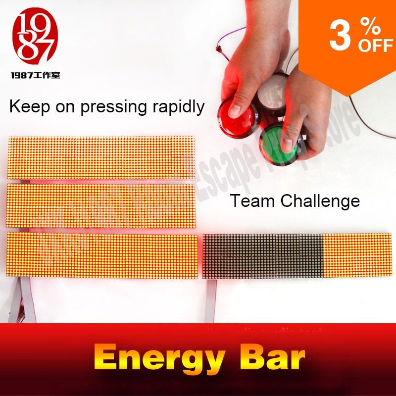 escape room game puzzle prop audio amazing energy bar to unlock Real-life escape roomTakagism teamwork challegeing game