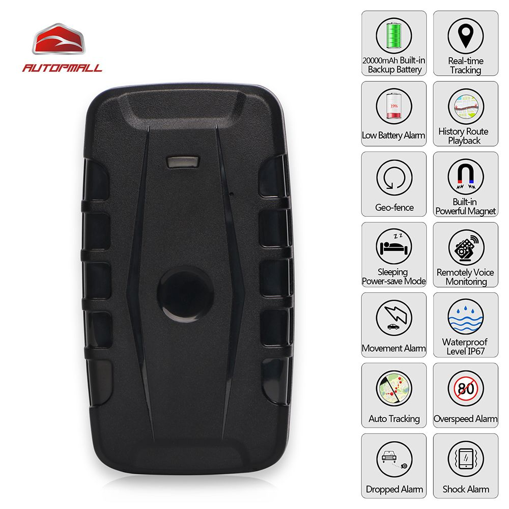 3G GPS Tracker Car LK209C 20000mAh 240 Days Standby Magnets Vehicle Tracker GPS Locator Waterproof Shock Drop Alarm Free Web APP