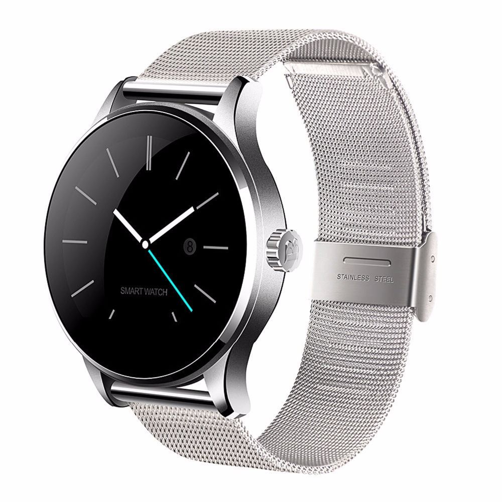 K88H Smart Watch IOS Android Heart Rate Monitor Watch 1.22 Inch IPS Round Screen <font><b>Bluetooth</b></font> SmartWatch For iphone 6 huawei xiaomi