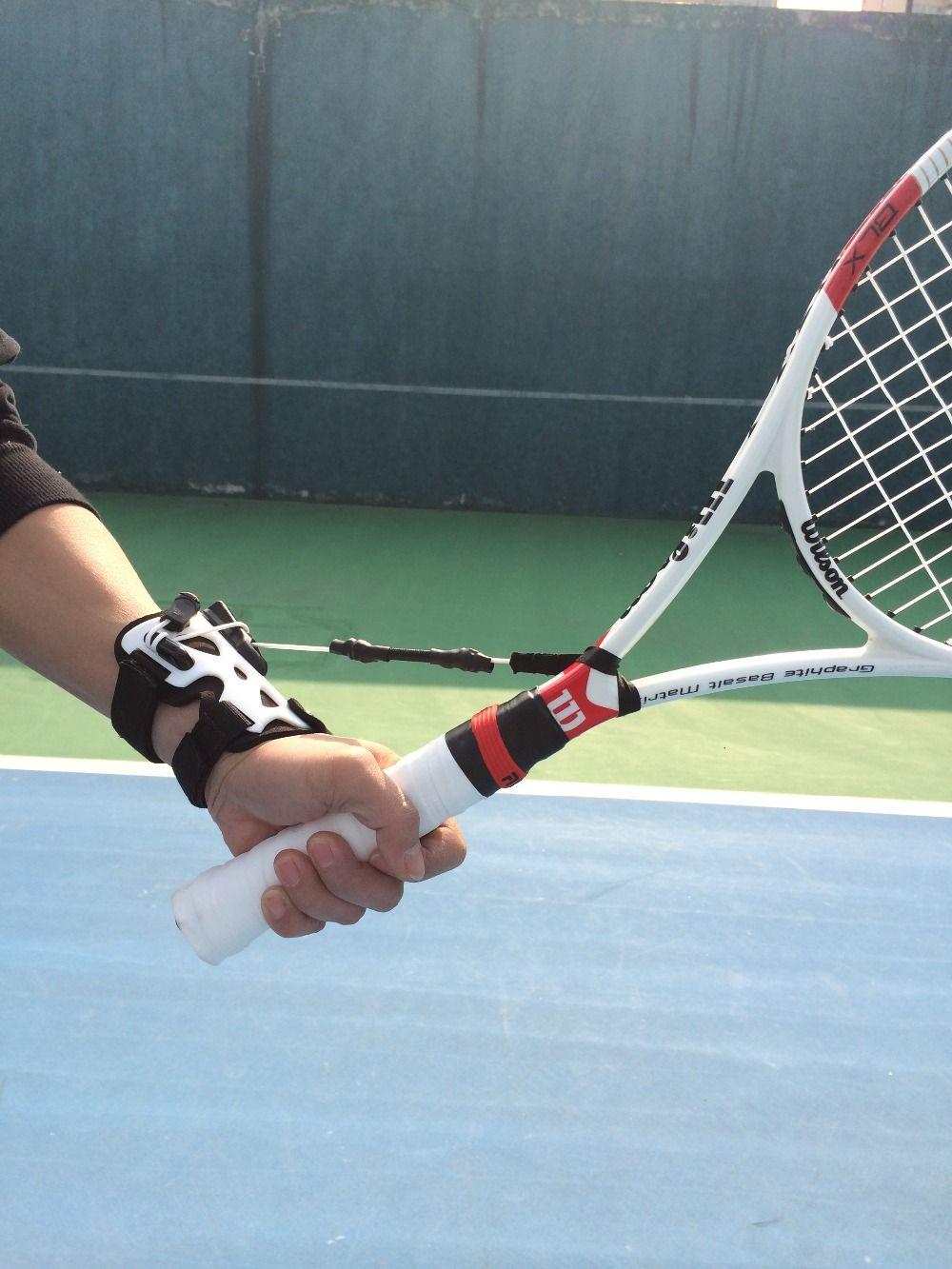 Envío libre Tenis fija una muñeca entrenadores rápido maestro Tenis raqueta swing punto principal correcta el movimiento de la muñeca