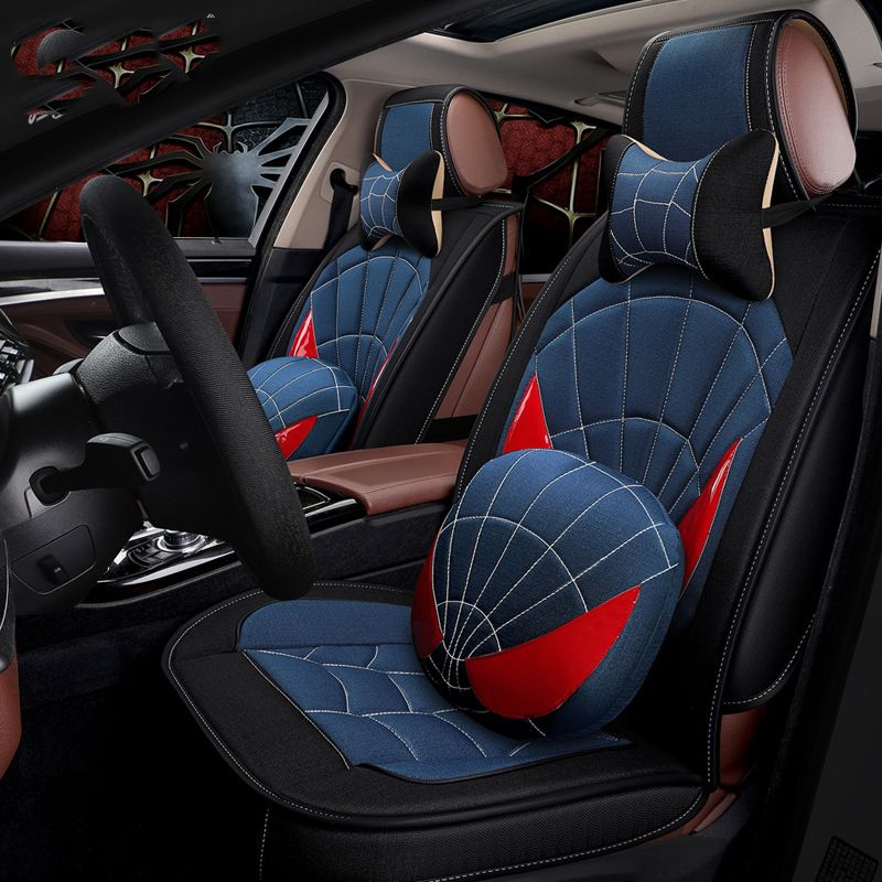 Automobiles Full Car Seat Covers Universal Spider design Fit Interior Accessories Seat Decoration Protector Cover Car-Styling