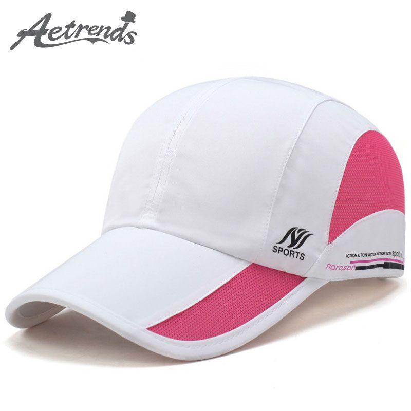 [AETRENDS] été imperméable à l'eau maille casquette hommes casquette de Baseball femmes soleil chapeaux à séchage rapide respirant casquettes Z-5077