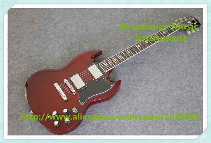 Chinese One Piece Body & Neck Angus Young SG Guitar Electric Same As Picture Free Shipping