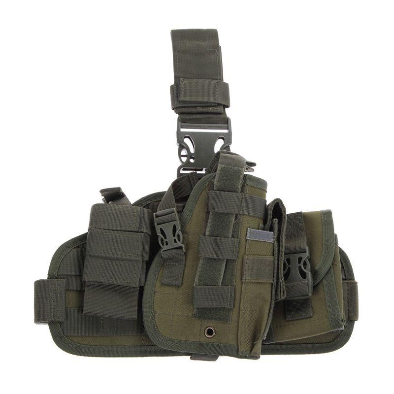 Molle Quick Detach Tropfen Beinholster 600D Nylon Jagd Taschen mit MOLLE Schutt Beutel Halter Outdoor BagTop Qualität 5 Farben