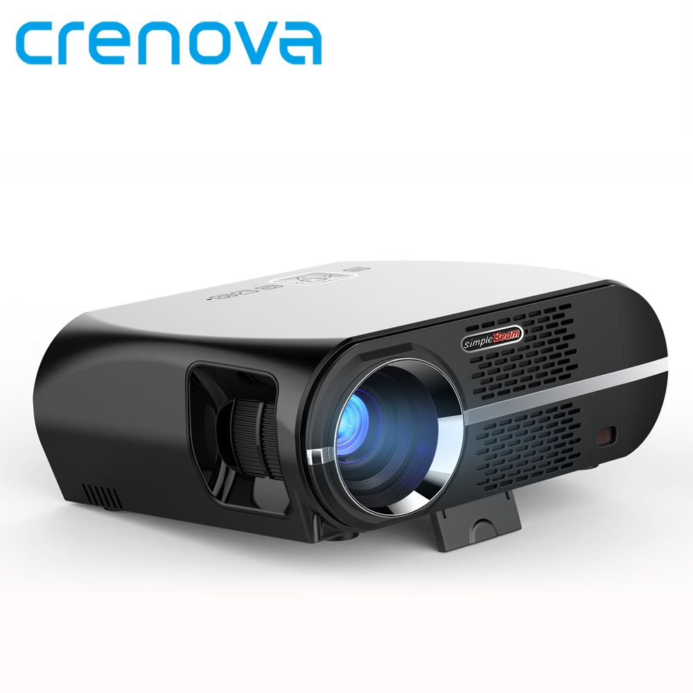 Crenova GP100UP Projector Set in Android 6.0.1 WIFI  Bluetooth Projector 3500 Lumens 1080P Full HD LED TV Beamer Video Proyector