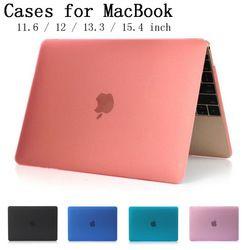 Pour Apple Macbook Air Pro Retina 11 12 13 15 pouce Ordinateur Portable couverture En Cristal Mat Full Protecteur Cas Pour Mac livre Touchbar sac Shell