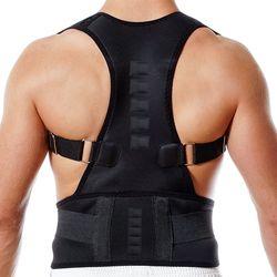 Baru Magnetic Postur Korektor Neoprene Kembali Korset Brace Pelurus Bahu Sabuk Tulang Belakang Mendukung Sabuk untuk Pria Wanita