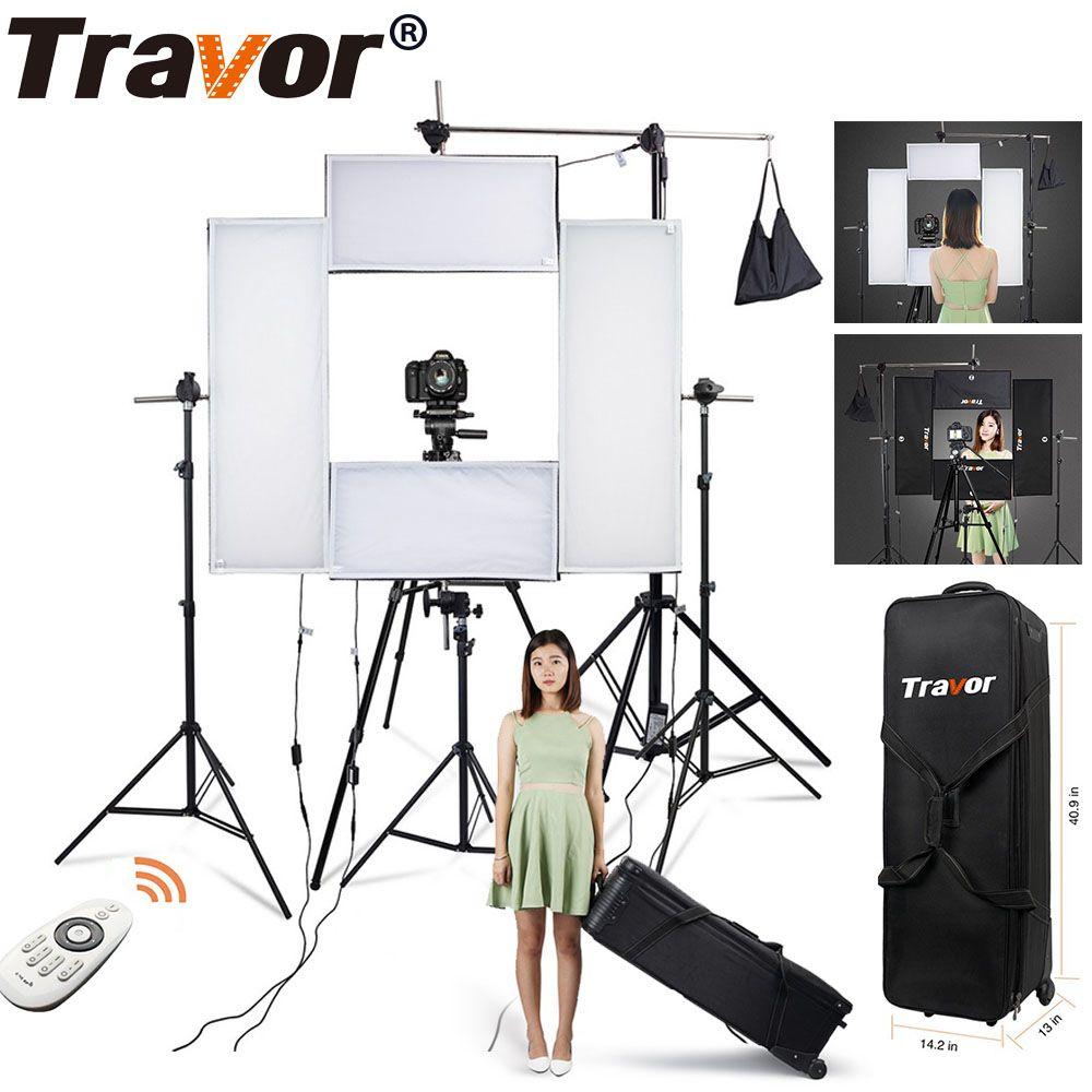 Travor Flex Headshot video Licht fotografie beleuchtung dimmbare Großen Power 100 W 5500 K CRI95 mit 2,4G Wireless Remote control