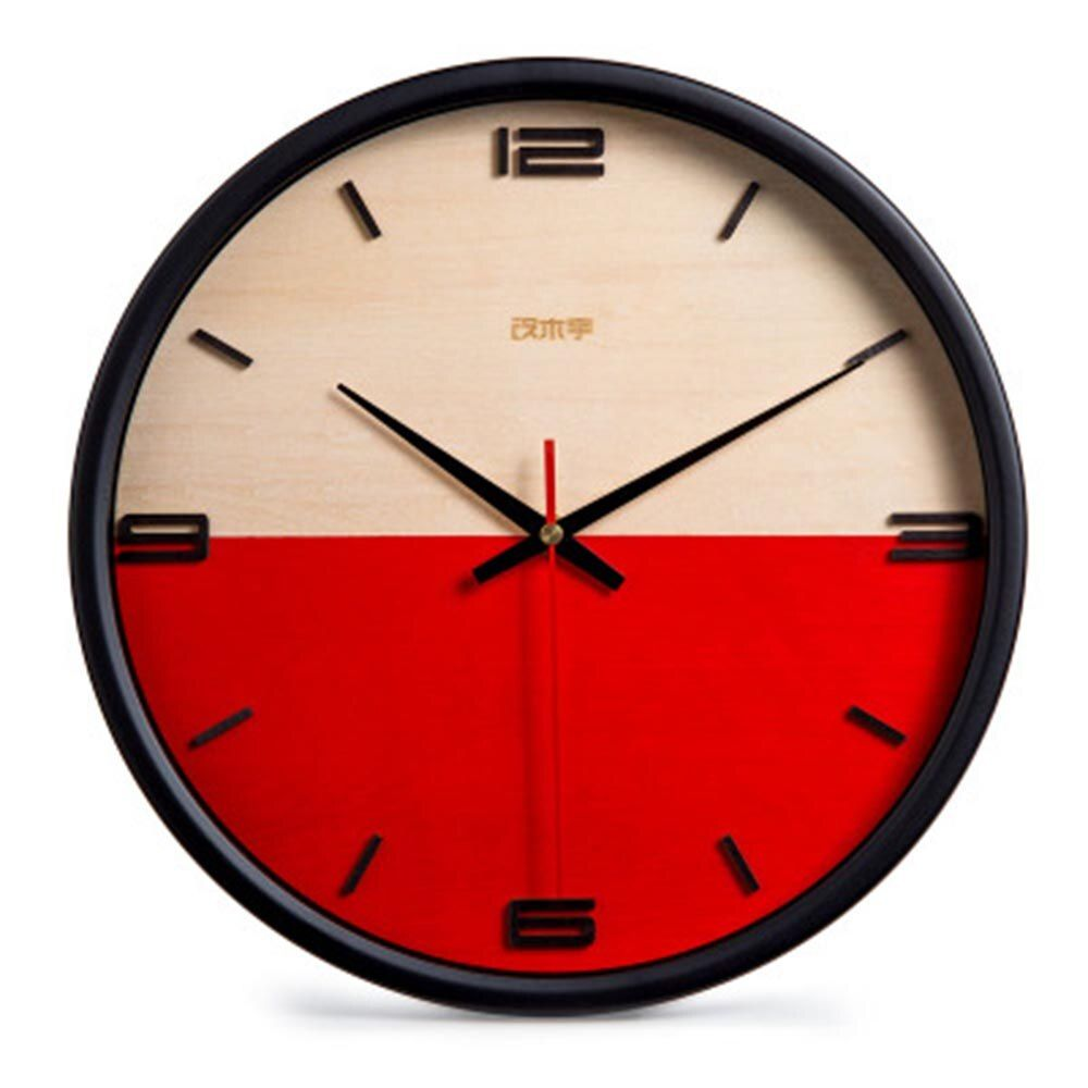 Nordic Creative Wall Clock Personality Simple Colorful Clock Modern Wall Clock Quiet Living Room Library Clock