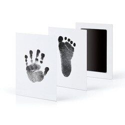1/2Pcs Newborn Baby Handprint Footprint Inkless Touch Non-Toxic InkPad DIY Photo Frame Infant baby hand and footprint Souvenirs