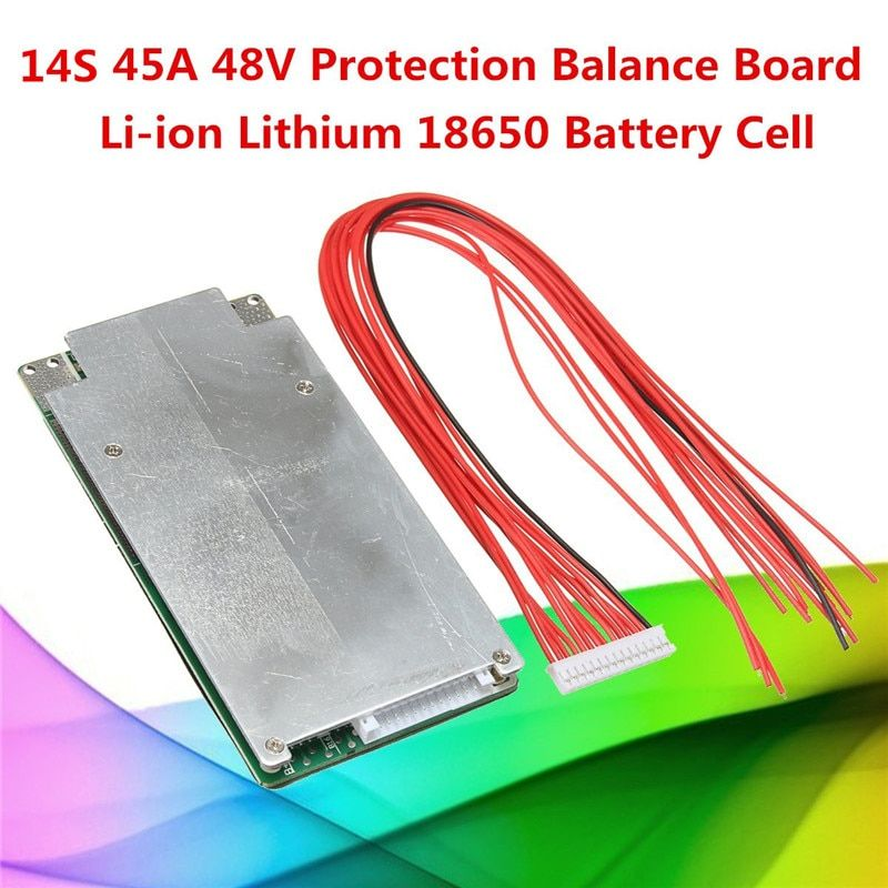 1PC 14S 45A 48V Li-ion Lithium 18650 Battery Cell BMS PCB Protection Balance Board Module