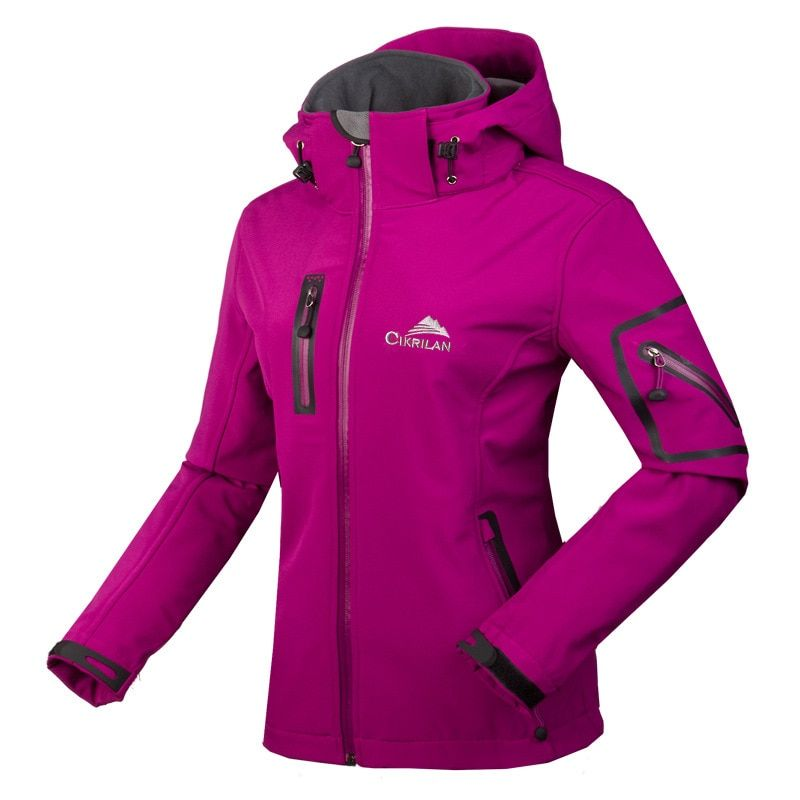 Winter Water Resistant waterproof Breathable Softshell Jacket Women Windbreaker Outdoor sport For Climing Hiking camping fishing