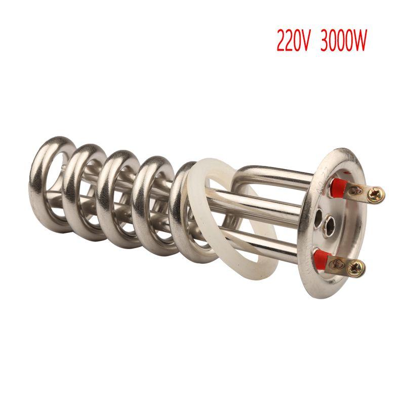 63mm kappe 220 v 3000 w elektrische spirale heizelement rohr Spirale Destillation maschine heizung rohr dampf reiniger teile
