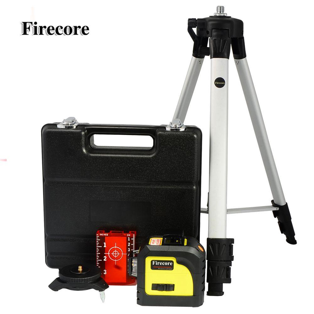 Firecore <font><b>12Lines</b></font> 3D 93T Laser Level Super Powerful Laser Beam Line + 1.4M Tripod