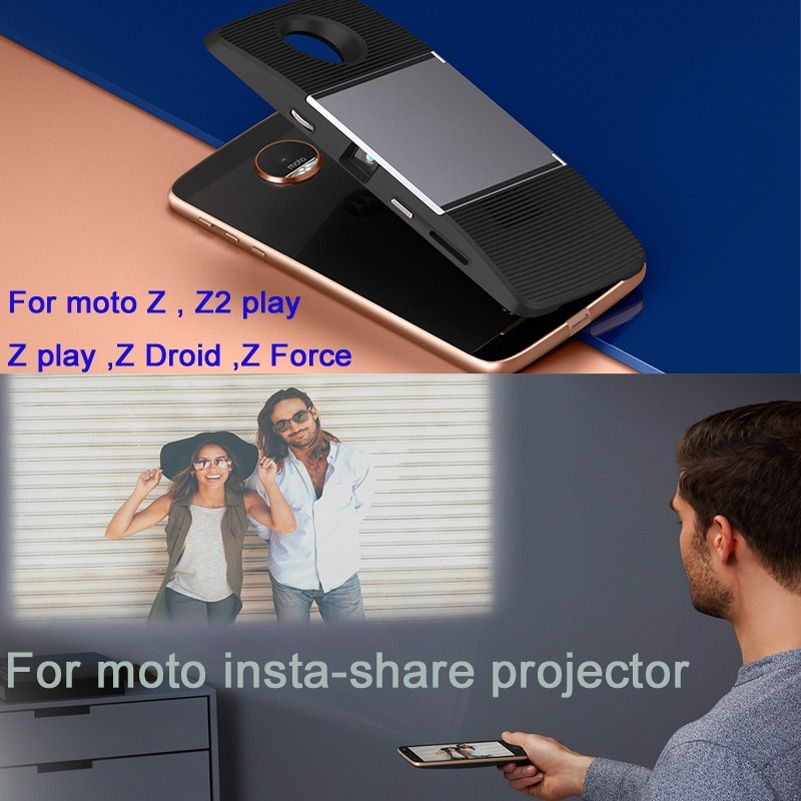 For motorola moto Z2 Play Z Droid Z2 Force Z Play Z phone DnGn original moto mods insta-share projector Magnetic adsorption