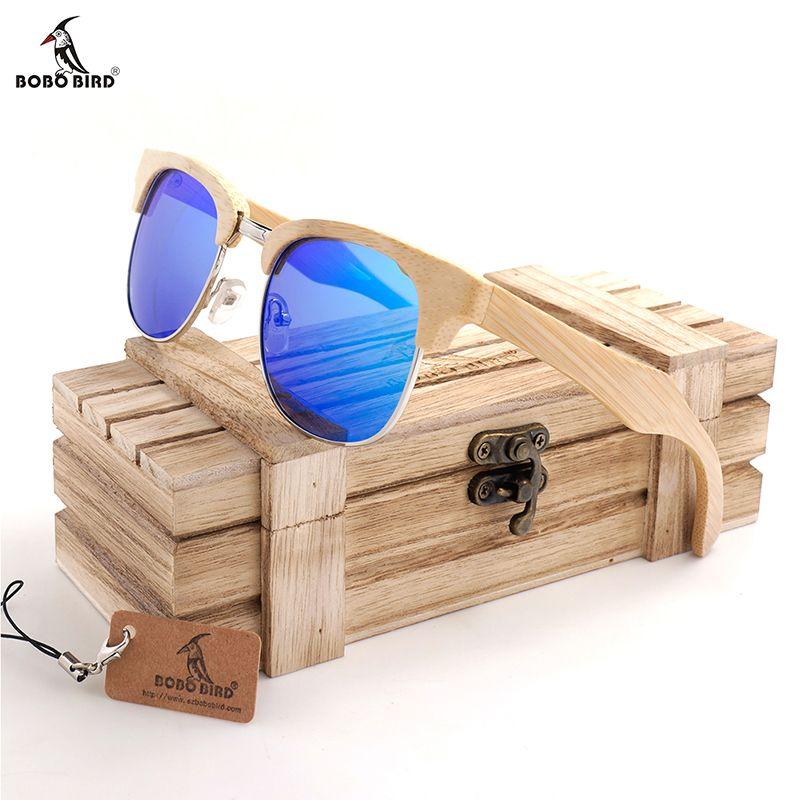BOBO BIRD Sunglasses Women Polarized Wooden Frame Glasses Fashion Eyewear soculos de sol feminino Dropshipping