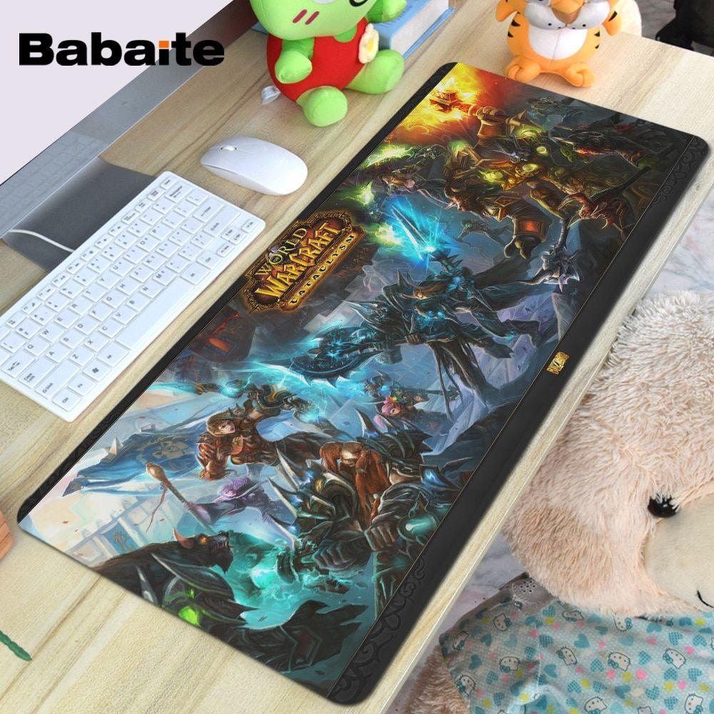 Babaite Super Large Size Optional Mouse Pad Natural Rubber Material Waterproof Desk Mat for 400X900X2MM