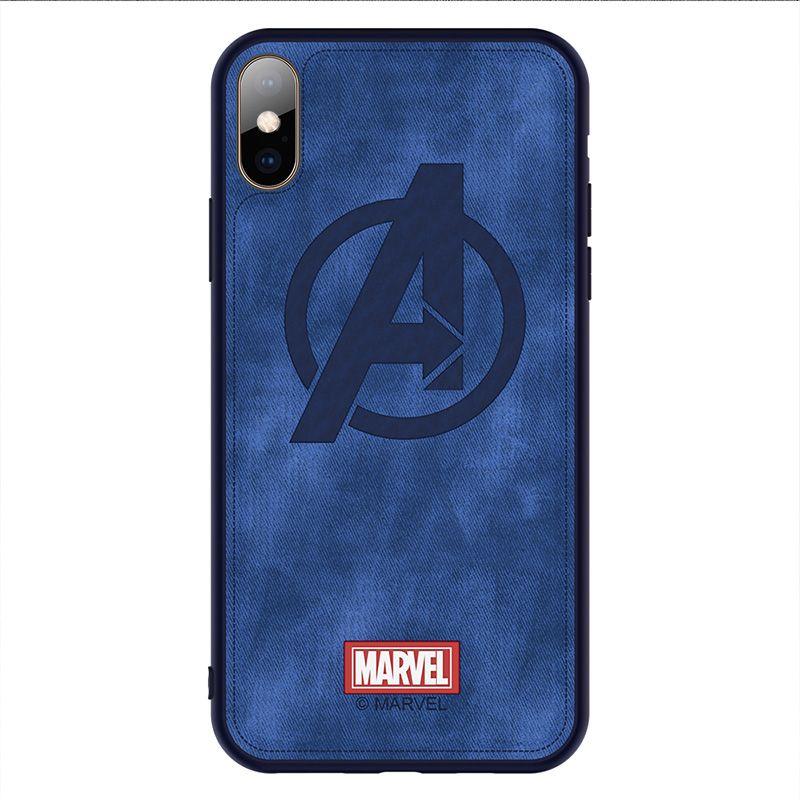 Coque de téléphone de marque originale pour iphone X XS XR XS MAX Captain Marvel le tissu Avengers couverture arrière de haute qualité Iron Man funda