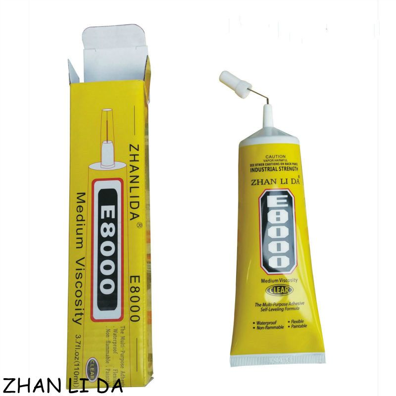 E8000 E-8000 110 ml Multiusos Transparente Sellador Super Glue Fix Marco de la Pantalla Táctil Del Teléfono Del Arte de Diy Joyería de Cristal Adhesivo líquido
