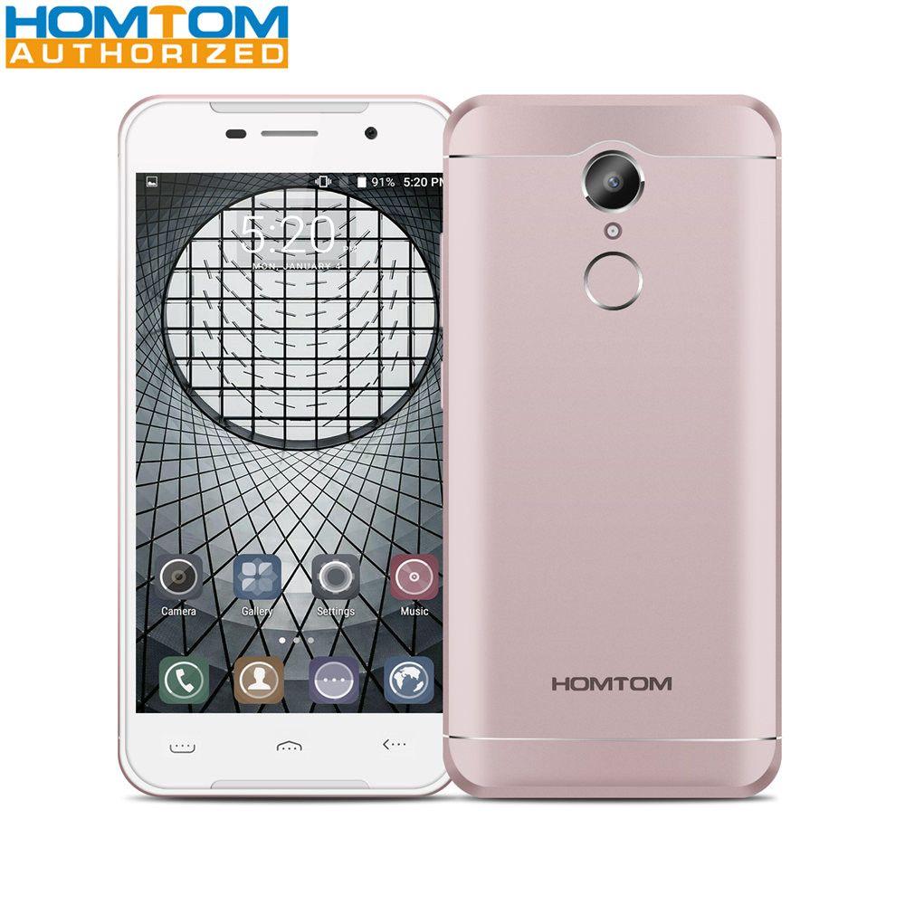 HOMTOM HT37 Android 6.0 MTK6580 Quad Core 2 GB RAM 16 GB ROM 5.0 Pouce 1280x720 D'empreintes Digitales Smartphone 3000 mAh Mobile Téléphone