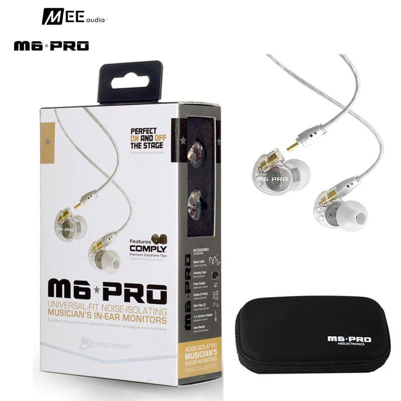 24 heures d'expédition filaire MEE Audio M6 PRO Sports course écouteur Hifi in-ear moniteurs avec câbles détachables avec boîte VS SE535