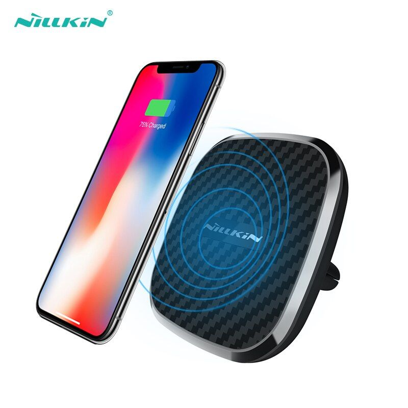10W Qi car wireless charger fast Nillkin 2 in 1 Magnetic Vehicle Mount Phone Holder Pad For iPhone X/8/8 Plus For Samsung S9/S9+