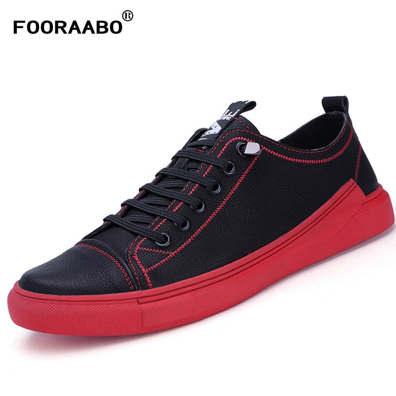 Spring Leather Men Shoes Italy Designer Shoes Breathable 2018 Men Causal Shoes Black England Retro Style Lace Up Shoes Men Flats