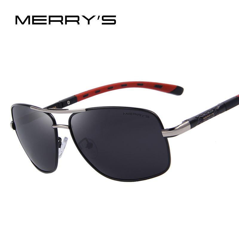 MERRY'S Men Aluminum Polarized Sunglasses EMI Defending Coating Lens Classic Brand Driving Shades S'8714