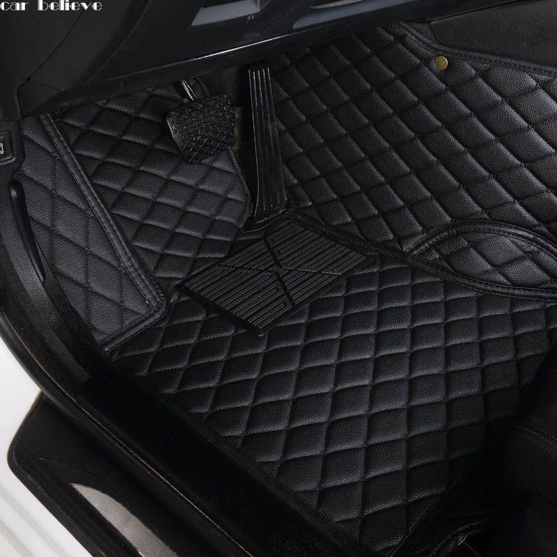 Car Believe Auto car floor Foot mat For bmw f10 x5 e70 e53 x4 f11 x3 e83 x1 f48 e90 x6 e71 f34 e70 e30 waterproof accessories