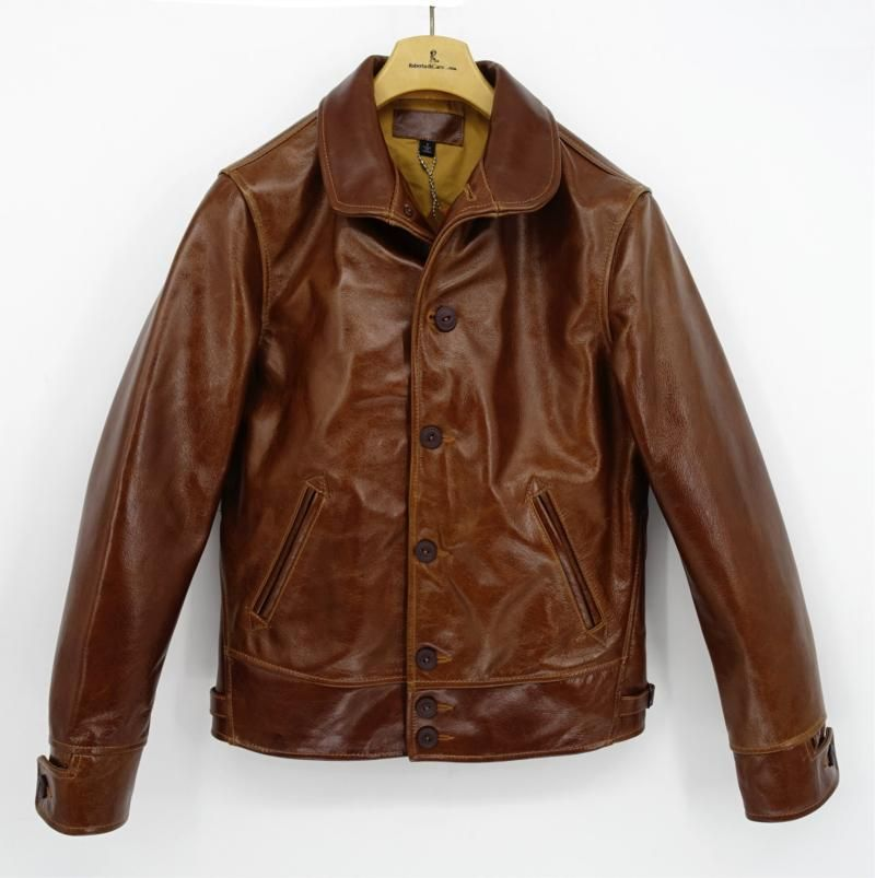 2018 Japanese men genuine natural cowhide leather coat male winter short jacket with cotton liner thick brown plus size xxxl 3xl