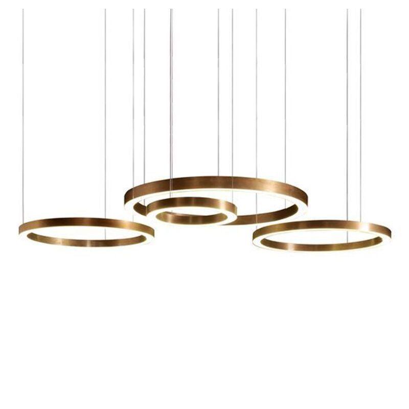 Moderne gold kreis hängen lampe FÜHRTE anhänger licht Hotel ring edelstahl minimalistischen wohnzimmer Licht für restaurant projekt
