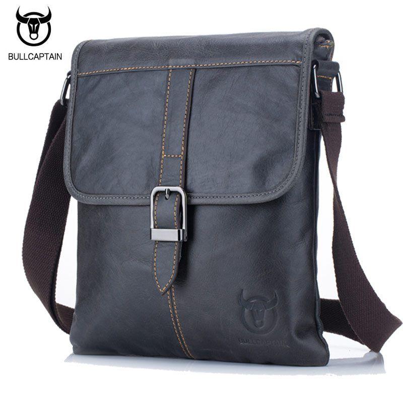 BULL CAPTAIN 2017 Men Bag Genuine Leather Man New Crossbody Shoulder Bag Men Small Business Bags Male Messenger Leather Bags 034