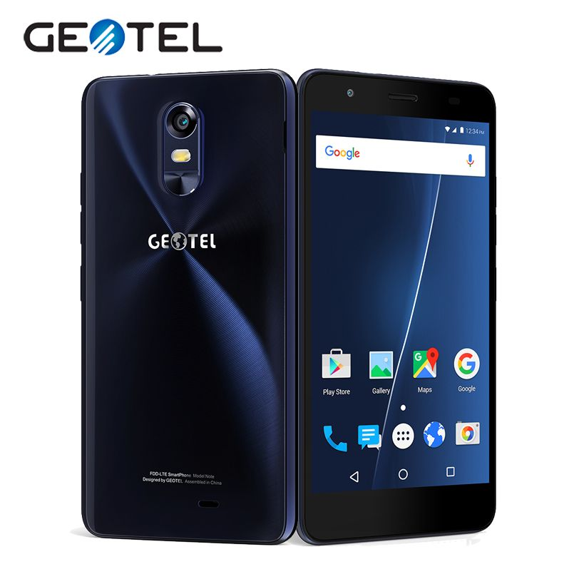 Original GEOTEL Note 4G Mobile Phones MT6737 Quad Core 16G ROM 3G RAM Android M  5.5 Inch HD 8.0MP OTA Cellphhone 3200mAh GPS