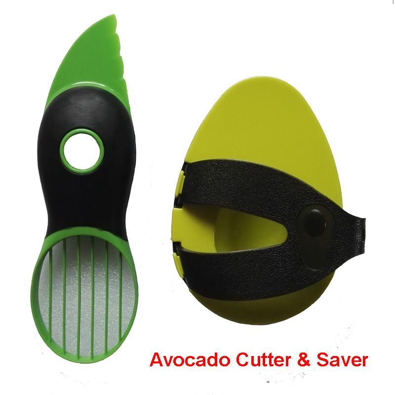 Livraison Gratuite 2 pc/ensemble D'outils de Cuisine Coupe-Fruits D'avocat Couteau et Frais-Conservation Économiseur Garder Frais
