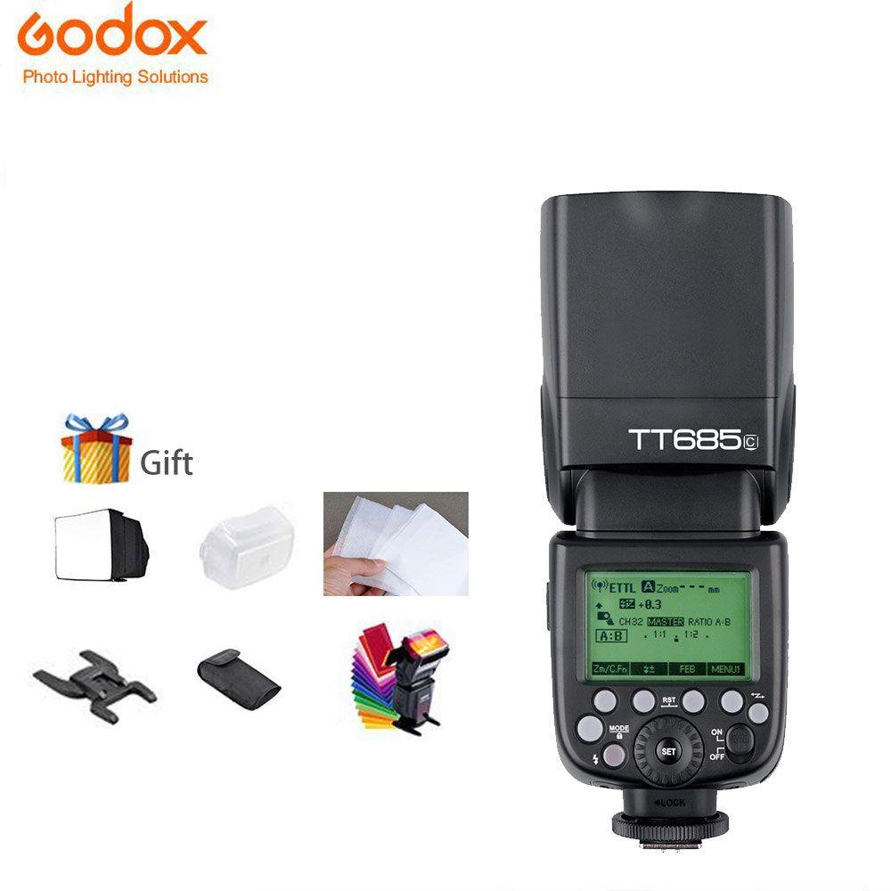 Godox tt685 TT685C TTL Speedlites Camera Flash 2.4GHz High Speed 1/8000s for Canon EOS Cameras