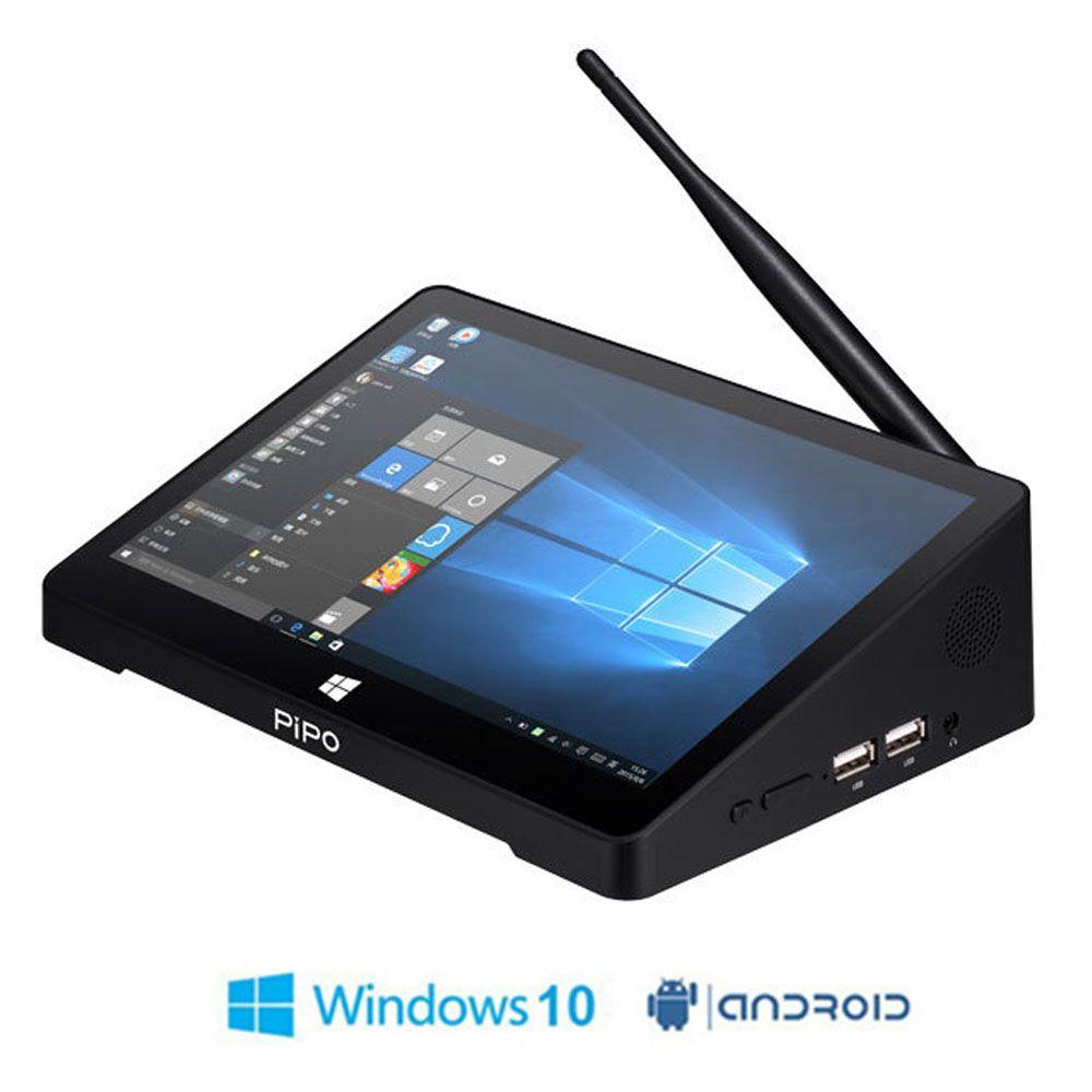 Auf Lager! ursprüngliche PIPO X9 X9 2 GB + 32 GB Quad Core Mini PC Smart TV BOX Dual OS Windows 10 & Android 4.4 Intel Z3736F 8,9