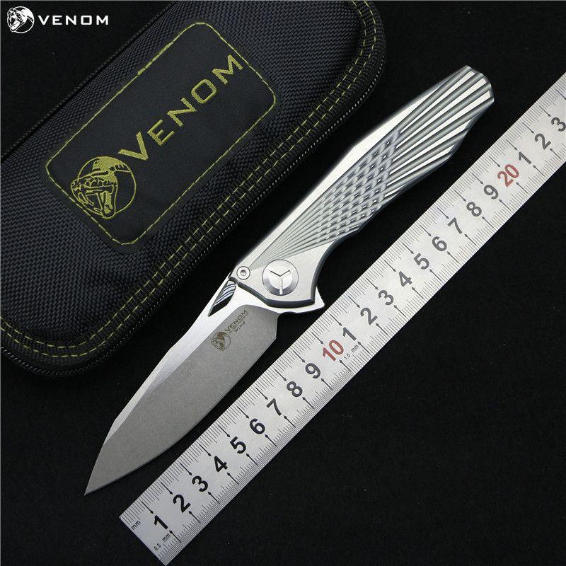 Kevin John VENOM 4 Flügel Flipper klappmesser S35VN klinge Ein Titan griff camping jagd überleben taschenmesser EDC werkzeuge