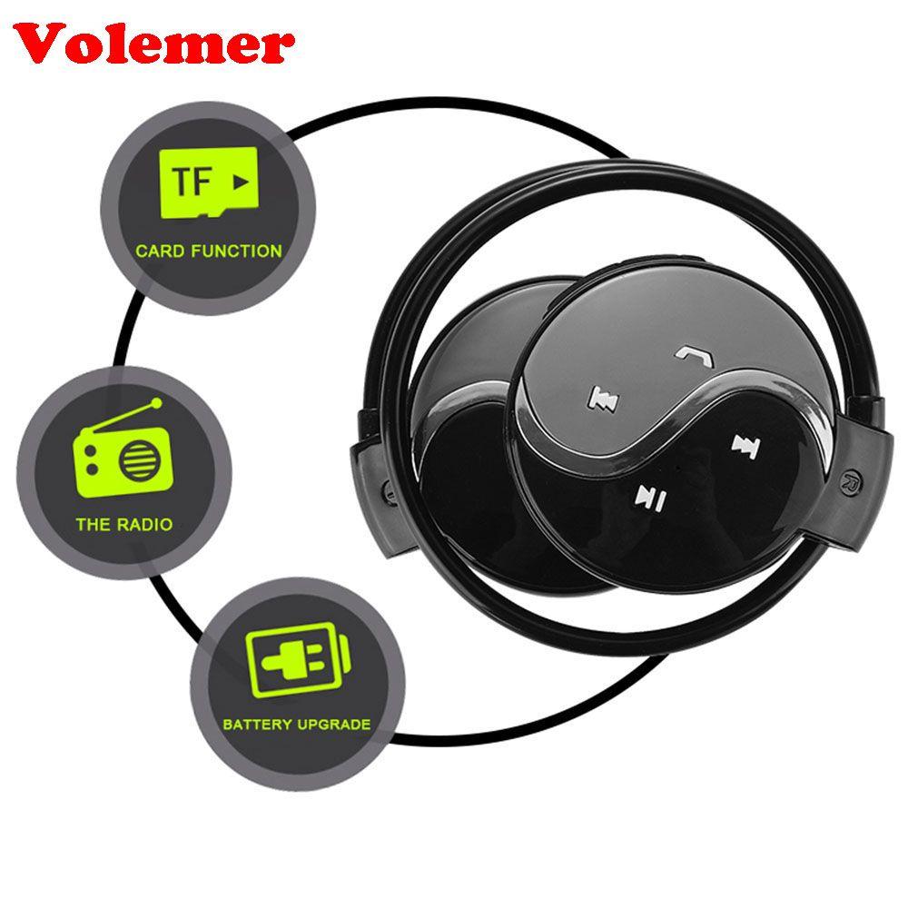 Écouteurs Volemer Mini603 sans fil Bluetooth écouteurs Sport casques avec Micro Support TF fente pour carte + FM Radio Sport casque