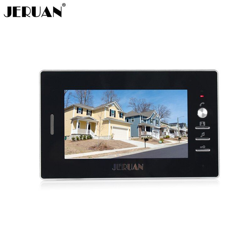 Jeruan Бесплатная доставка 7 дюймов видео-телефон двери дверной звонок видео дверь домофон 720B indoor + адаптер питания