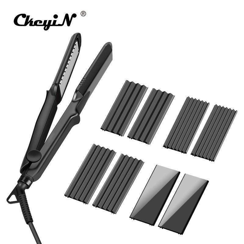 100-240V 4 In1 Hair Straightener Corrugated Curler Crimper Ceramic Fast Straightening Flat Iron Electric Corn Waver Curling Wand